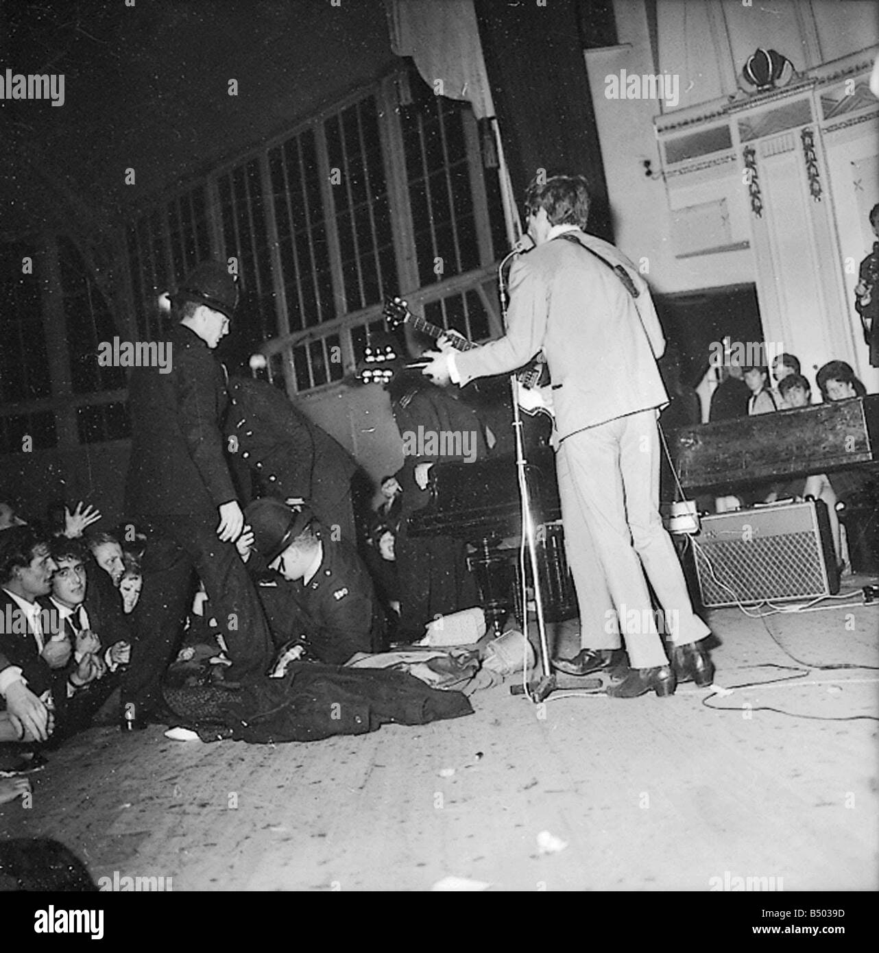 Beatles Files The In Concert Where Police Came On Stage After Crowds Got Out Of Control During Derbyshire