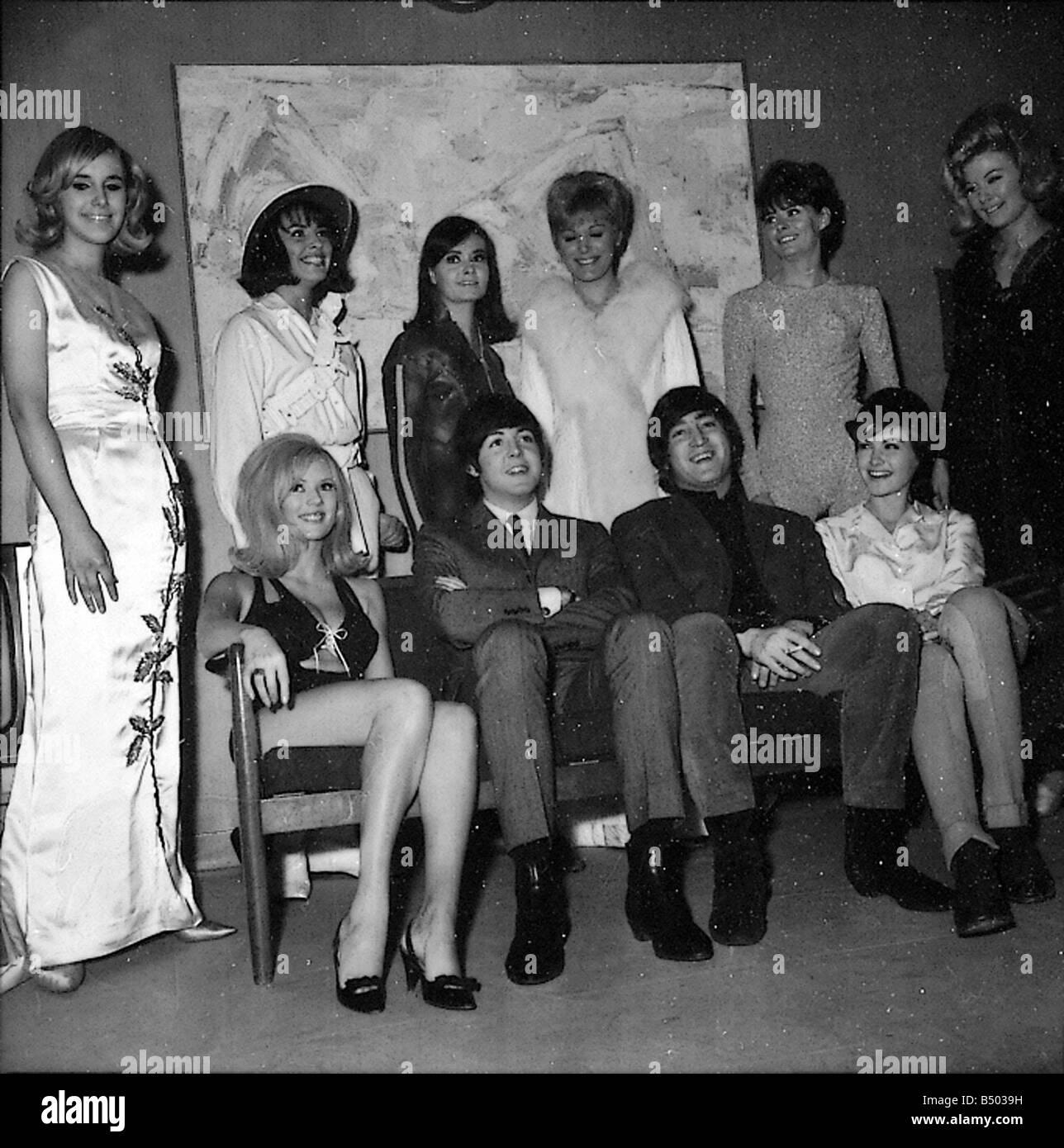 Designer Tv Shows Beatles Files 1965 John Paul Backstage With Show Girls