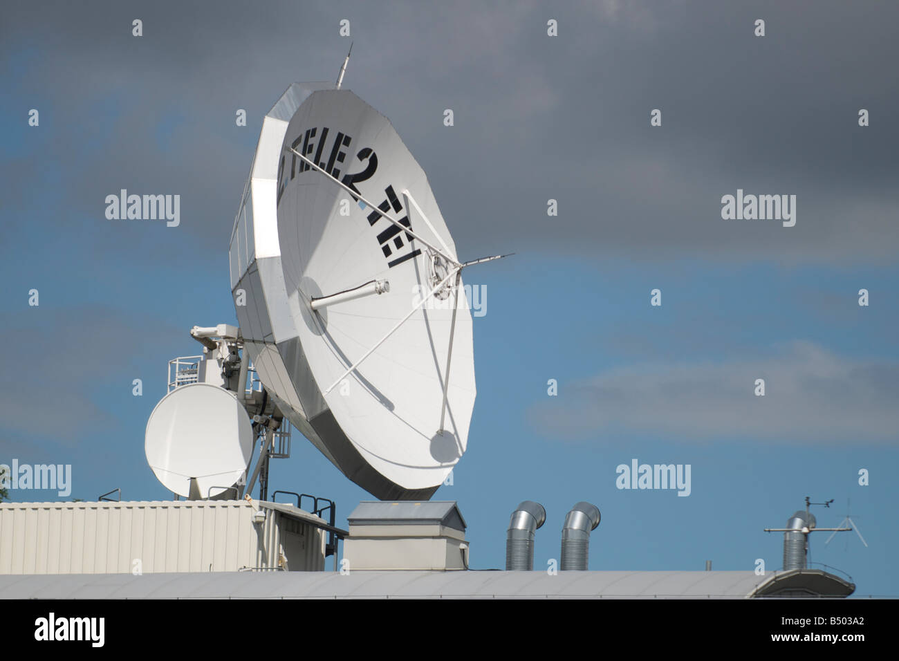 Tele 2 satellite Kista, Stockholm - Stock Image