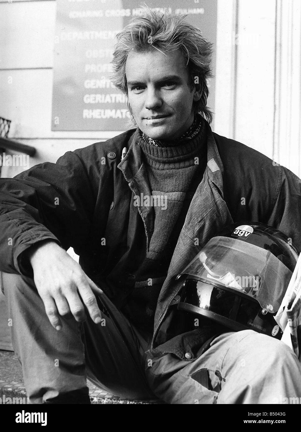 Sting singer with pop group Police aka Gordon Sumner 1984 Stock Photo