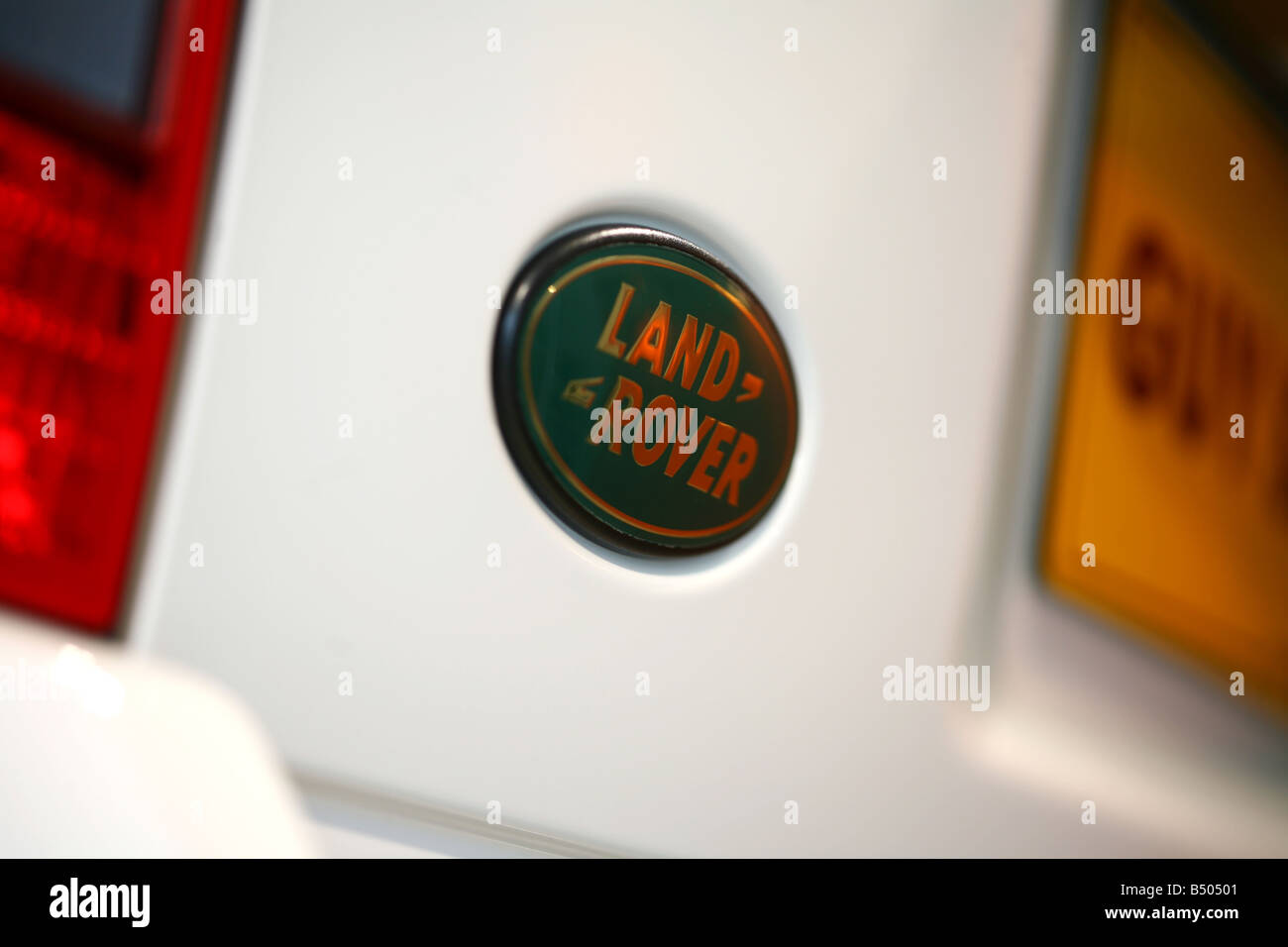 Land Rover Badge - Stock Image
