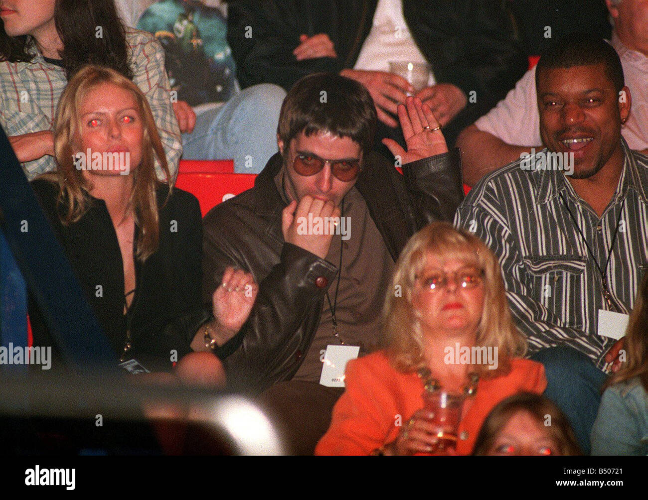 Liam Gallagher Of Oasis And His Wife Patsy Kensit At The Who Concert 1997 Wembley Arena