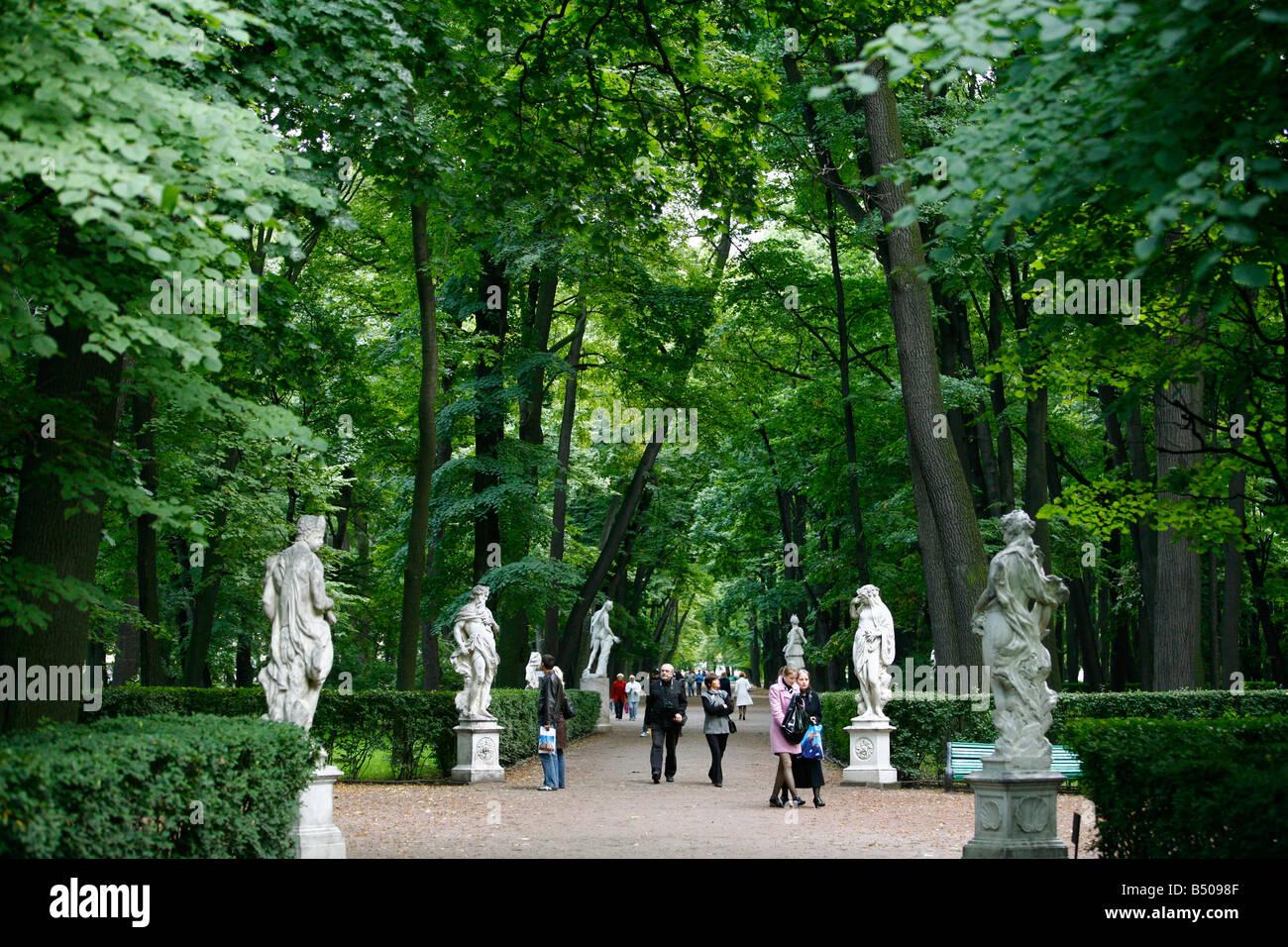 Aug 2008 - The Summer Garden St Petersburg Russia - Stock Image