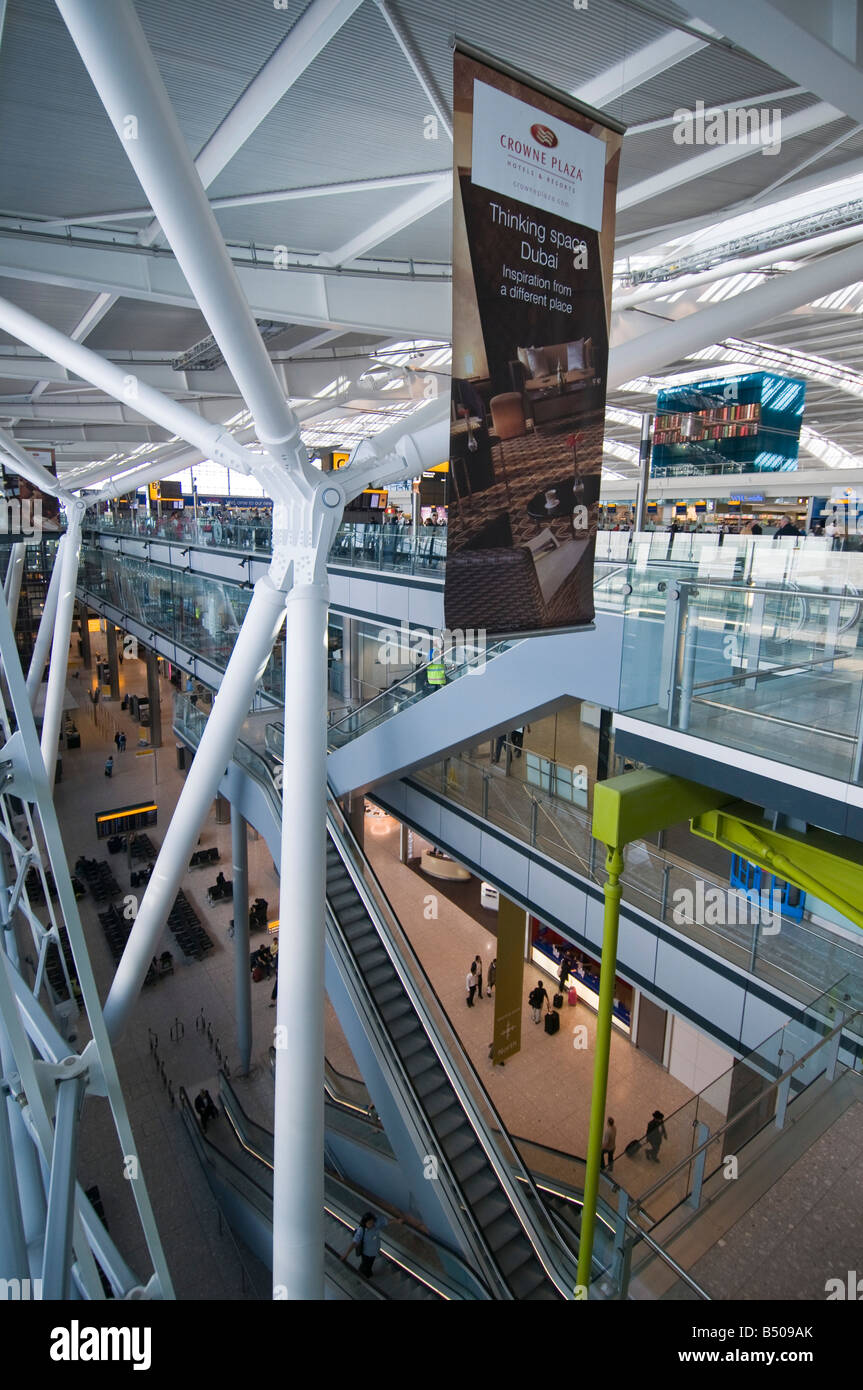 London Heathrow Airport Terminal 5 London England UK - Stock Image
