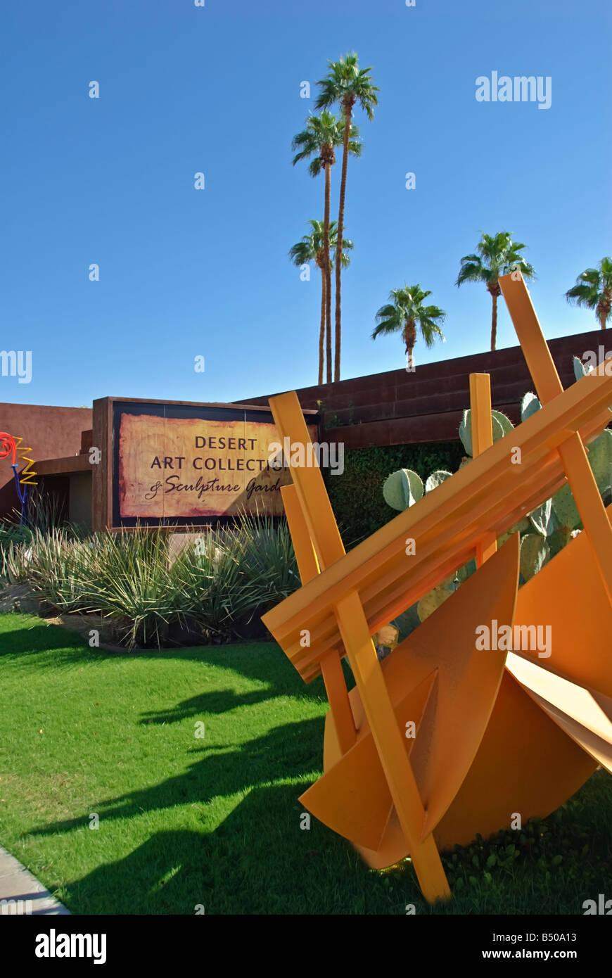 Palm Desert California El Paseo Drive Desert Art Collection Stock