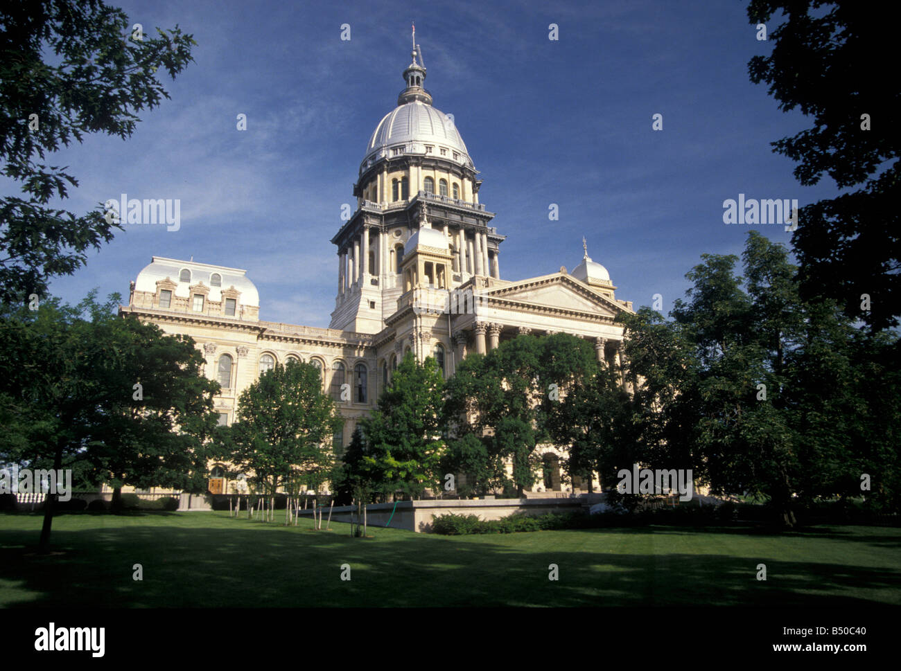 State Capitol building Springfield Illinois - Stock Image