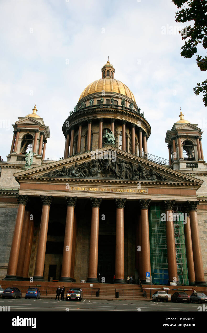 Aug 2008 - St Isaac s cathedral St Petersburg Russia - Stock Image