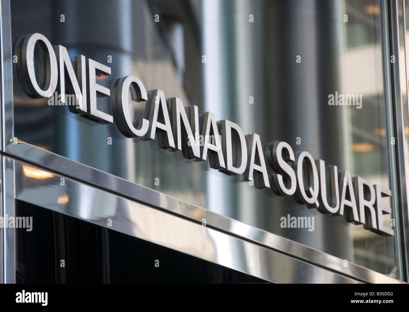 One Canada Square in Canary Wharf London - Stock Image