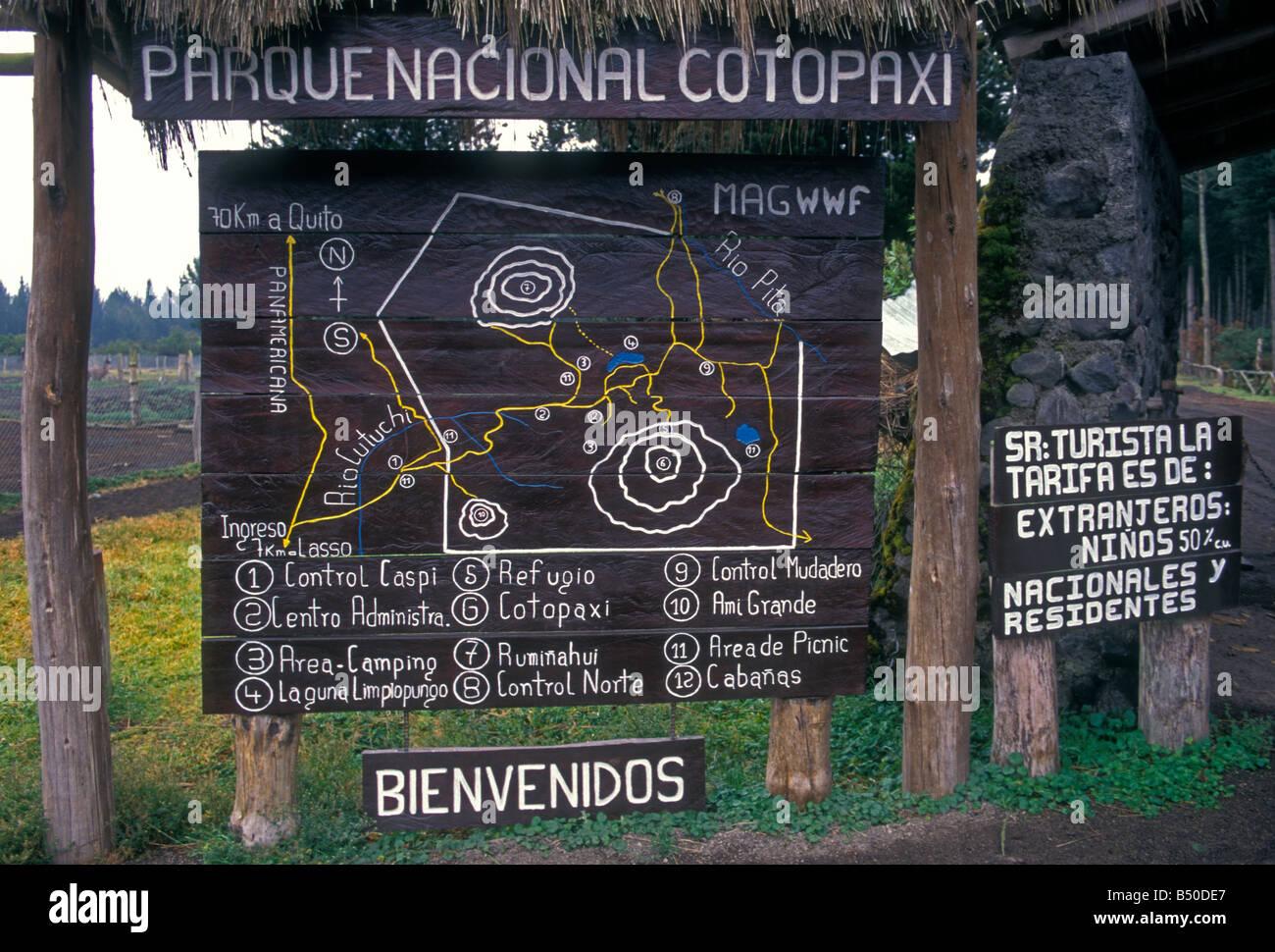 Welcome sign bienvenidos entrance map cotopaxi national park welcome sign bienvenidos entrance map cotopaxi national park parque nacional cotopaxi cotopaxi province ecuador south america ccuart Gallery