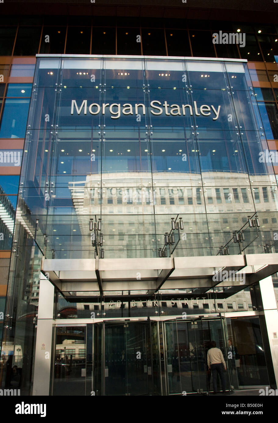 Morgan Stanley in Bank Street Docklands London Stock Photo: 20294641