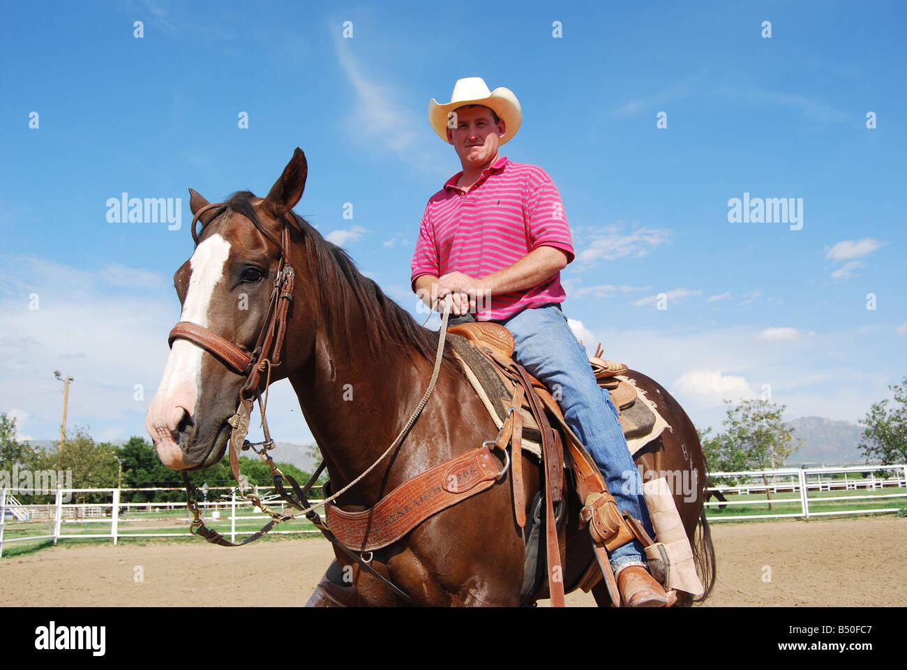 Rodeo Champion Calvin Taylor El Paso Texas Stock Photo