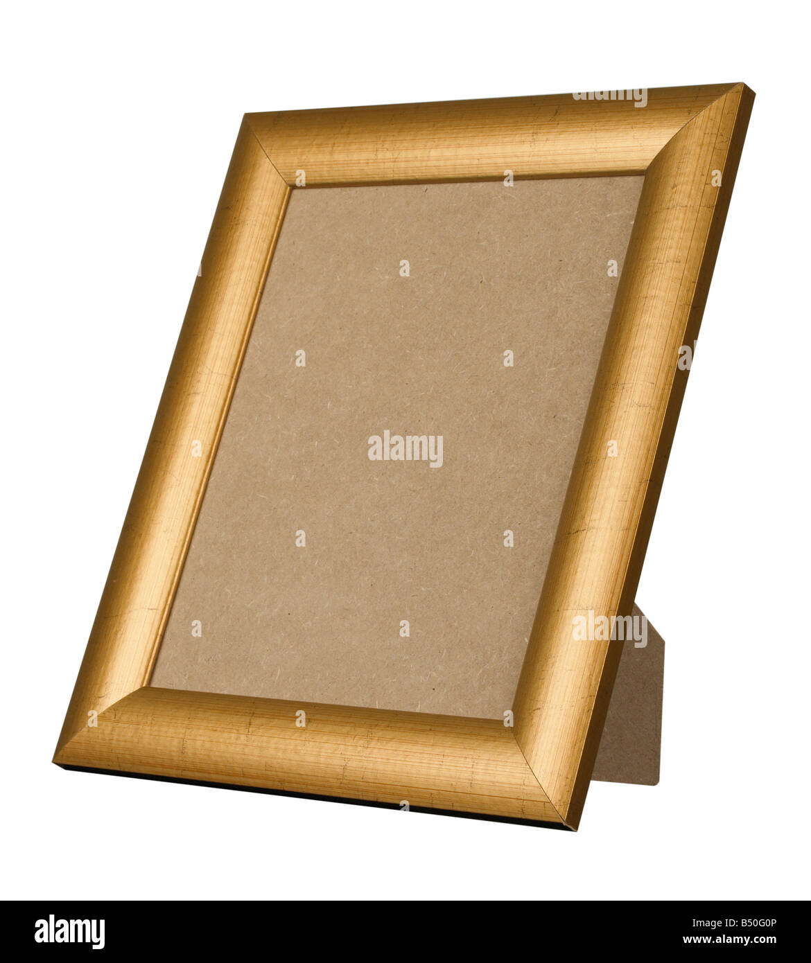 Excellent PICTURE FRAME GOLD GILT WOOD STAND STANDING Stock Photo: 20296214  CV46