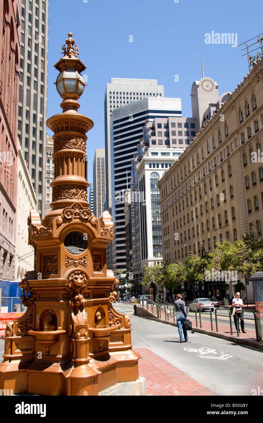Lotta's Fountain, San Francisco, California Stock Photo
