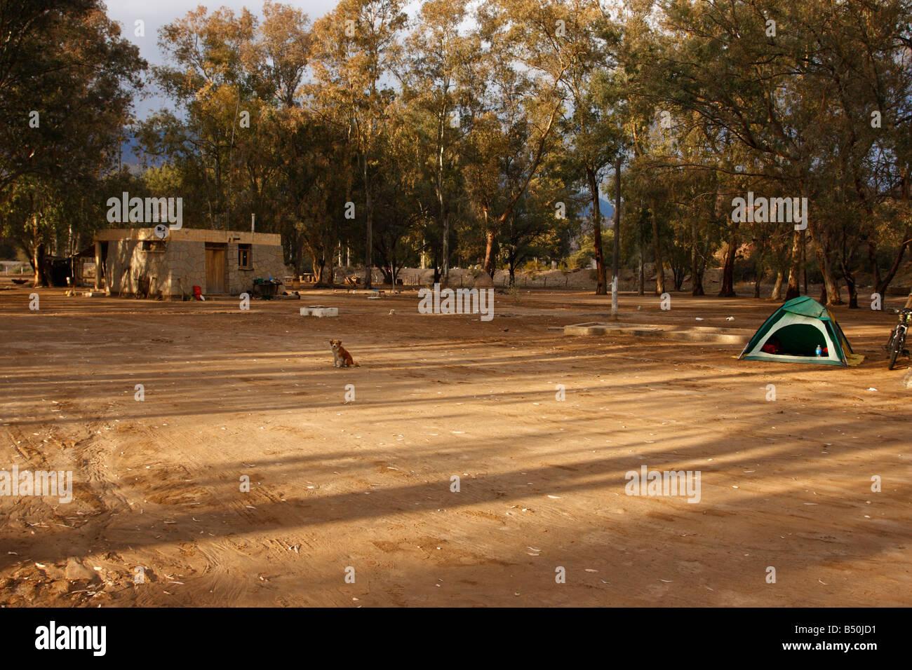 Camping in San Juan province Argentina - Stock Image