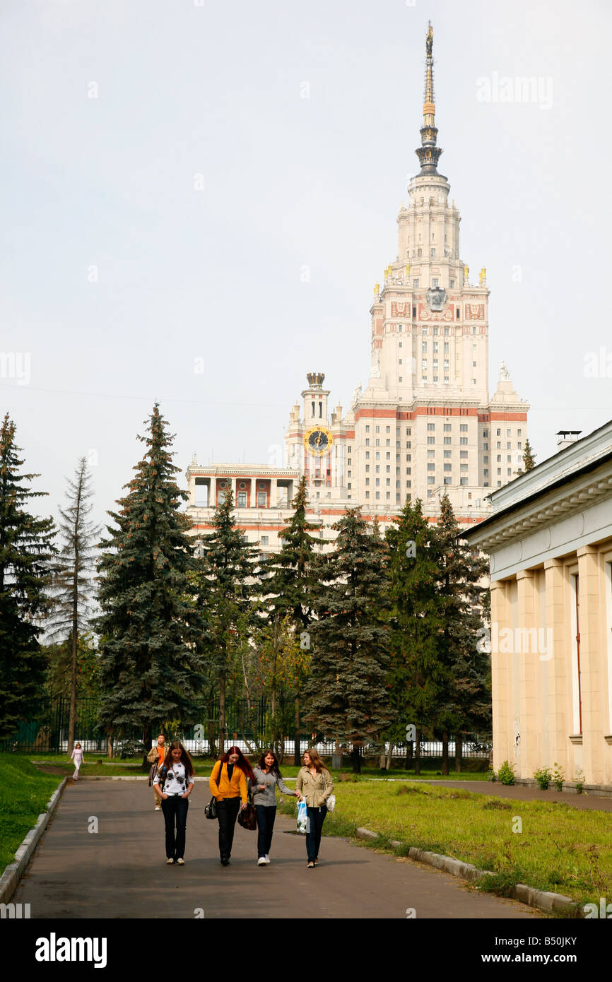 Sep 2008 - The Stalinist State University building of Seven Sisters which are seven Stalinist skyscrapers Moscow - Stock Image