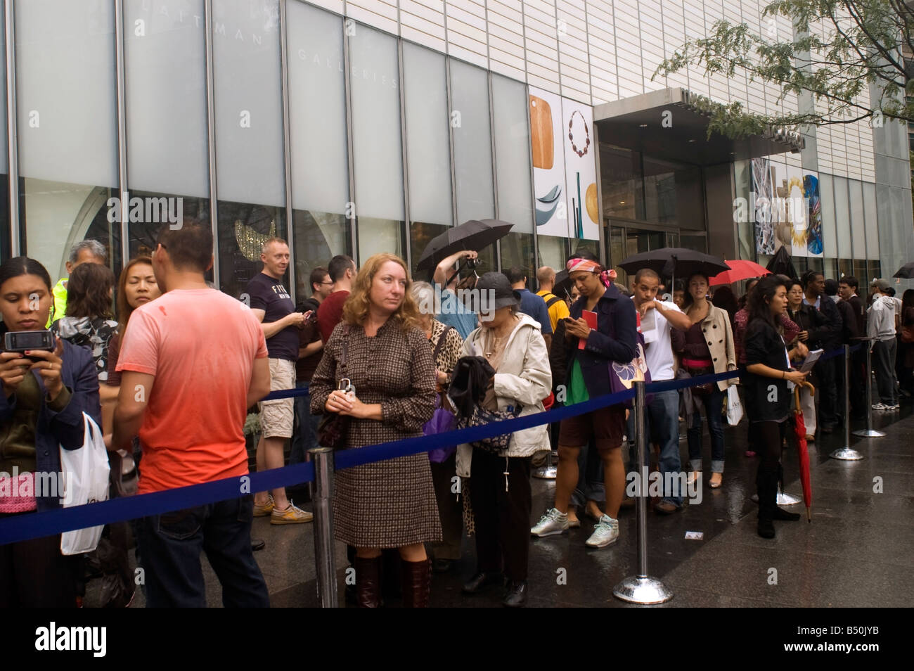Opening weekend of the Museum of Arts and Design in Columbus Circle in New York Stock Photo