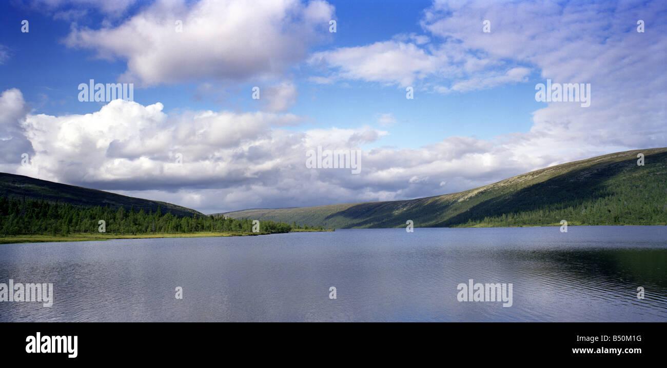 Grövelsjön, a lake in Sweden. This is in Älvdalen in Dalarna. - Stock Image