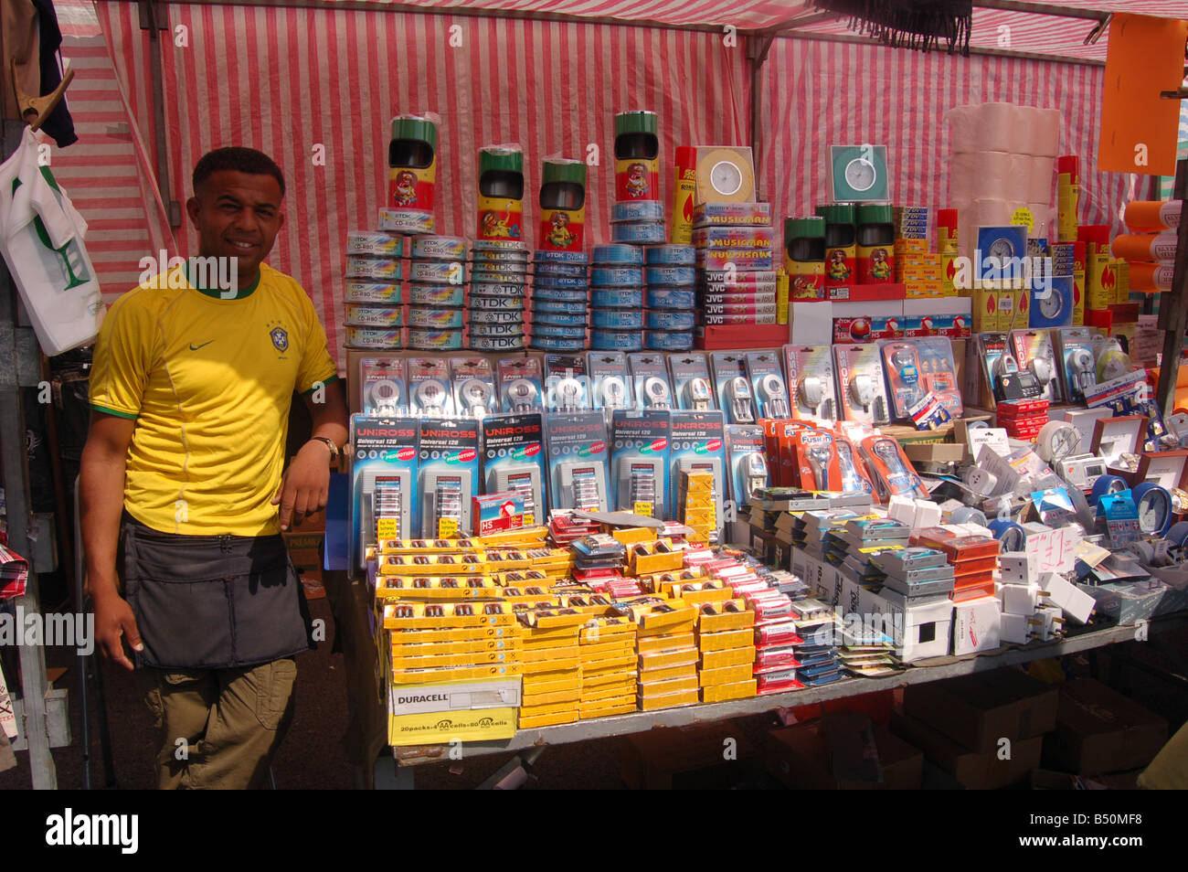 Vendors at Wembley Market - Stock Image