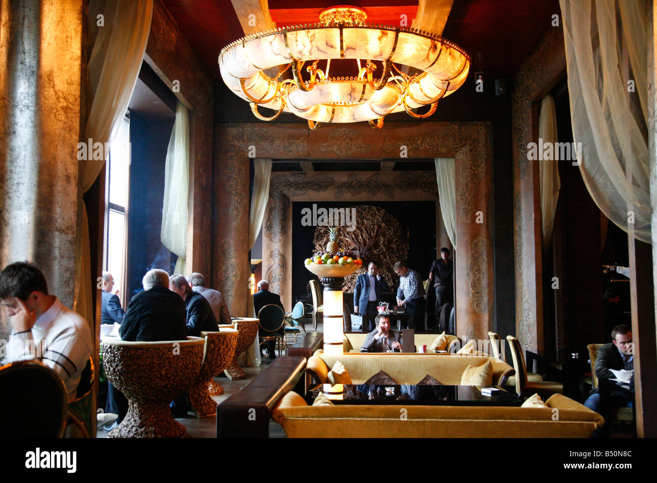 Sep 2008 - The upmarket Prado Cafe Moscow Russia - Stock Image