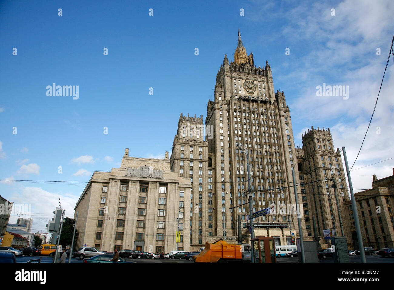 Sep 2008 The Stalinist forigen Affairs Ministry building of Seven Sisters which are seven Stalinist skyscrapers - Stock Image