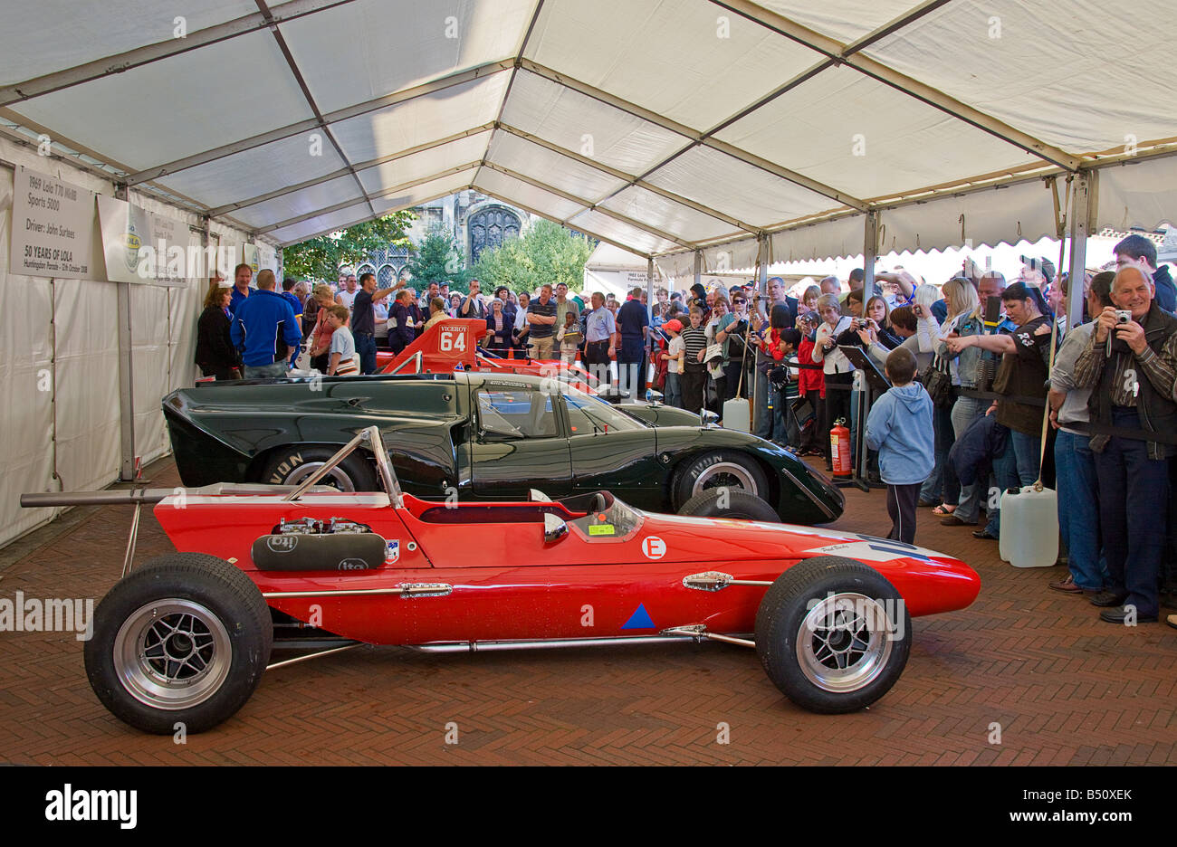 Lola T100 Formula 2, 1967, used by J.Surtees racing team in 1970, on show to the public during Lola,s 50th Anniversary. Stock Photo