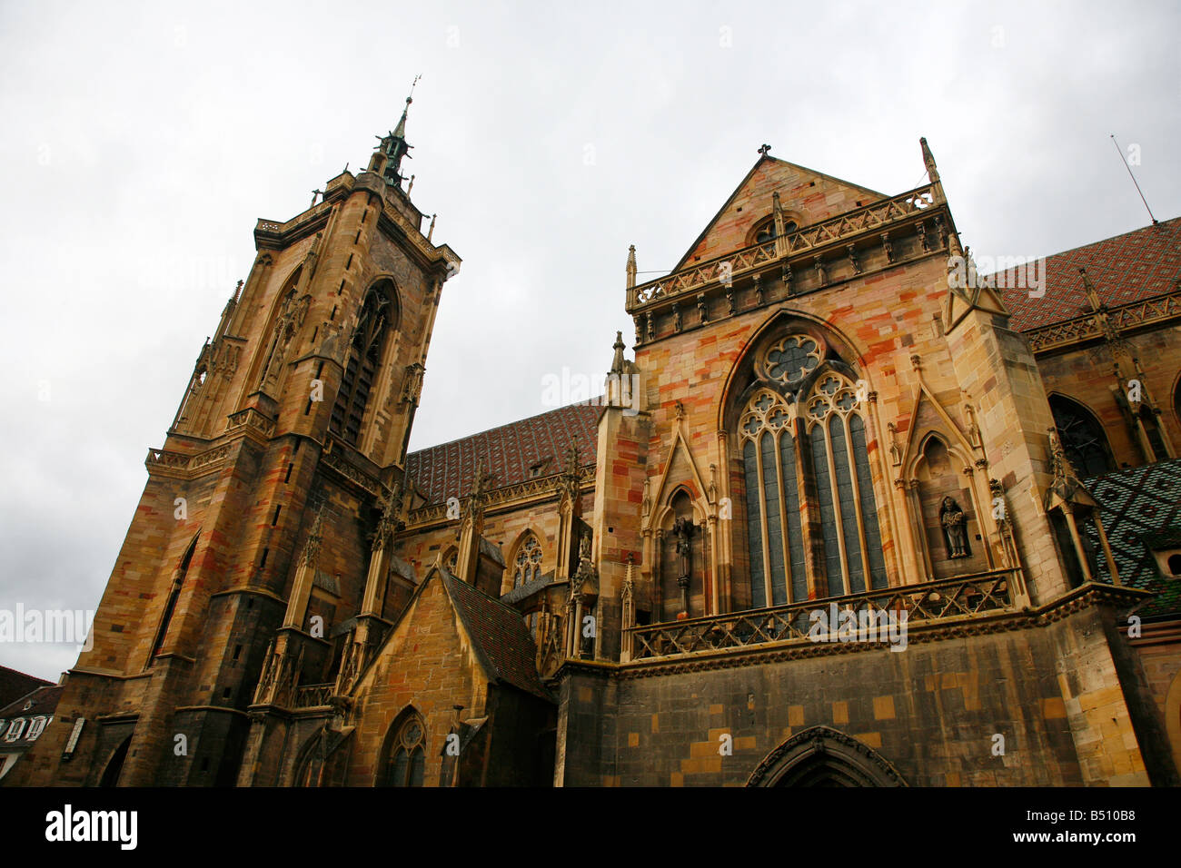 Sep 2008 - Saint Martin Cathedral Colmar Alsace France - Stock Image