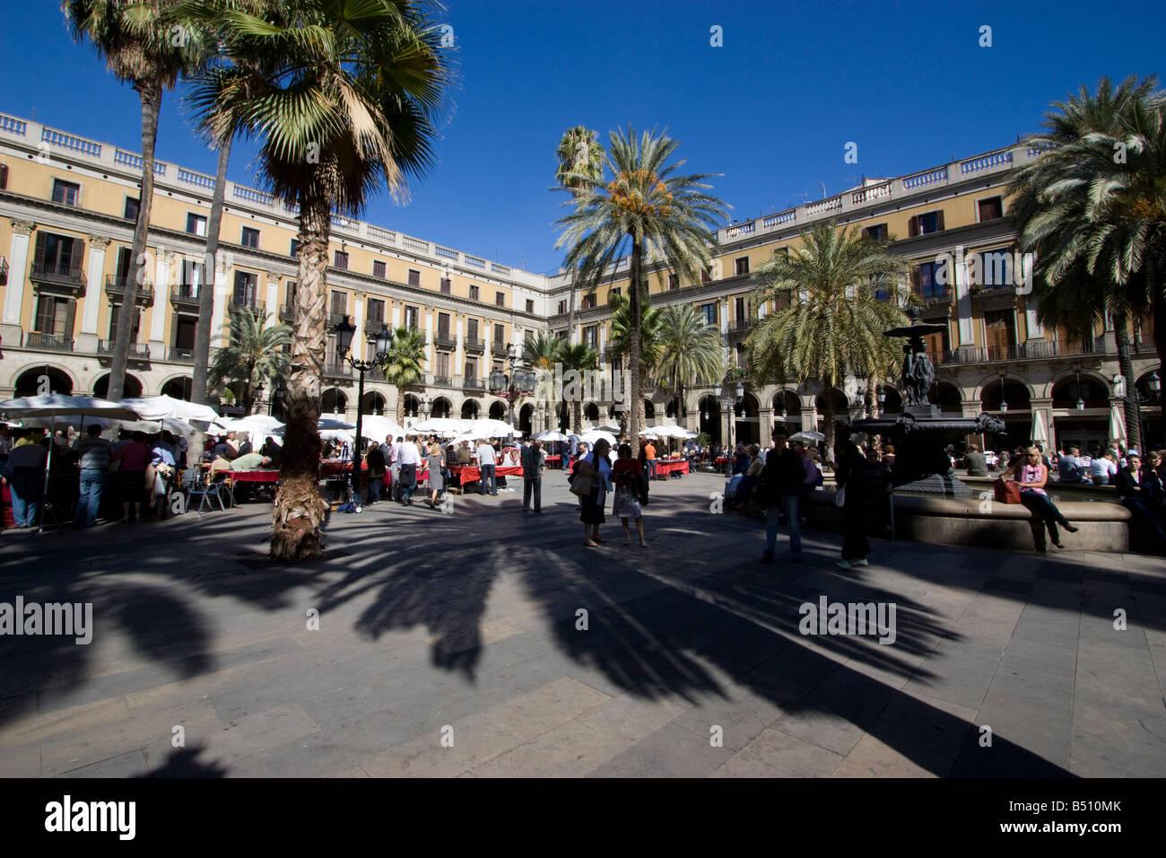 placa reial barcelona - Stock Image