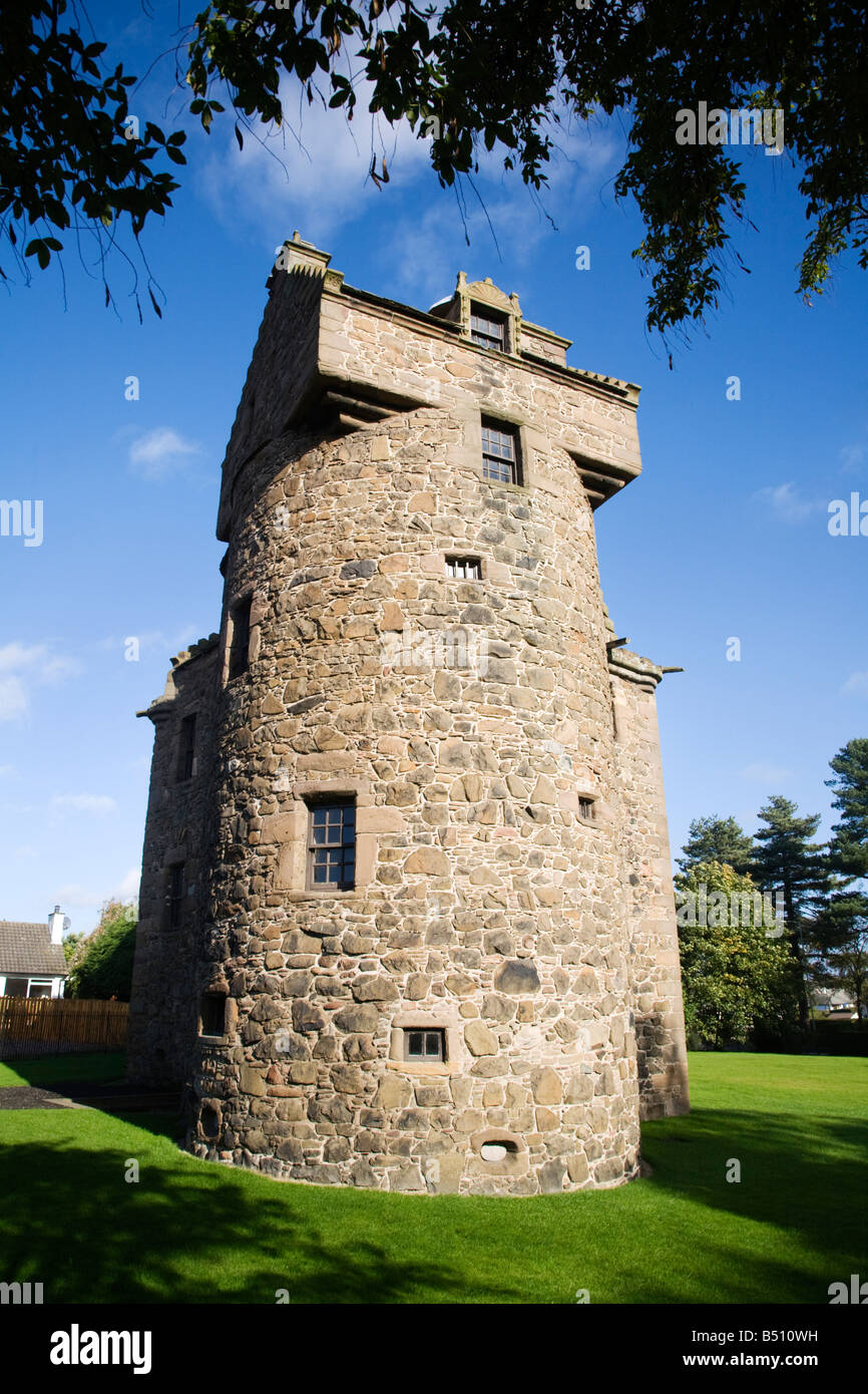 Claypotts Castle a 16th Century Fortified Tower House Dundee Scotland - Stock Image