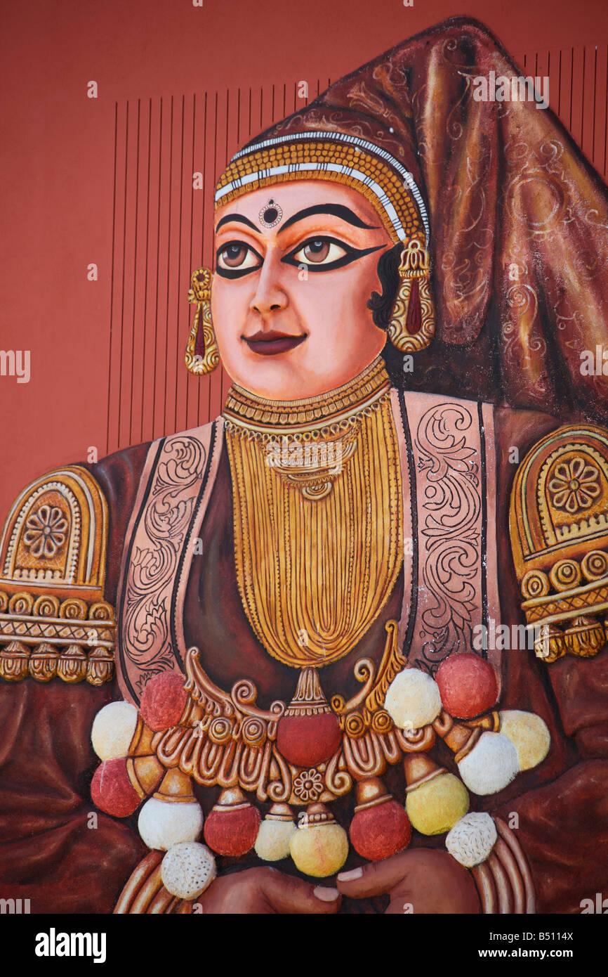 A picture of Damayanti,  princess of Vidarbha Kingdom, in Hindu mythology - Stock Image