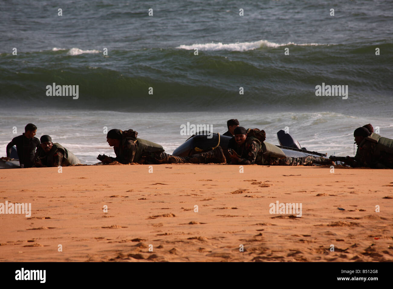 Amphibious Army excercise demo - Stock Image