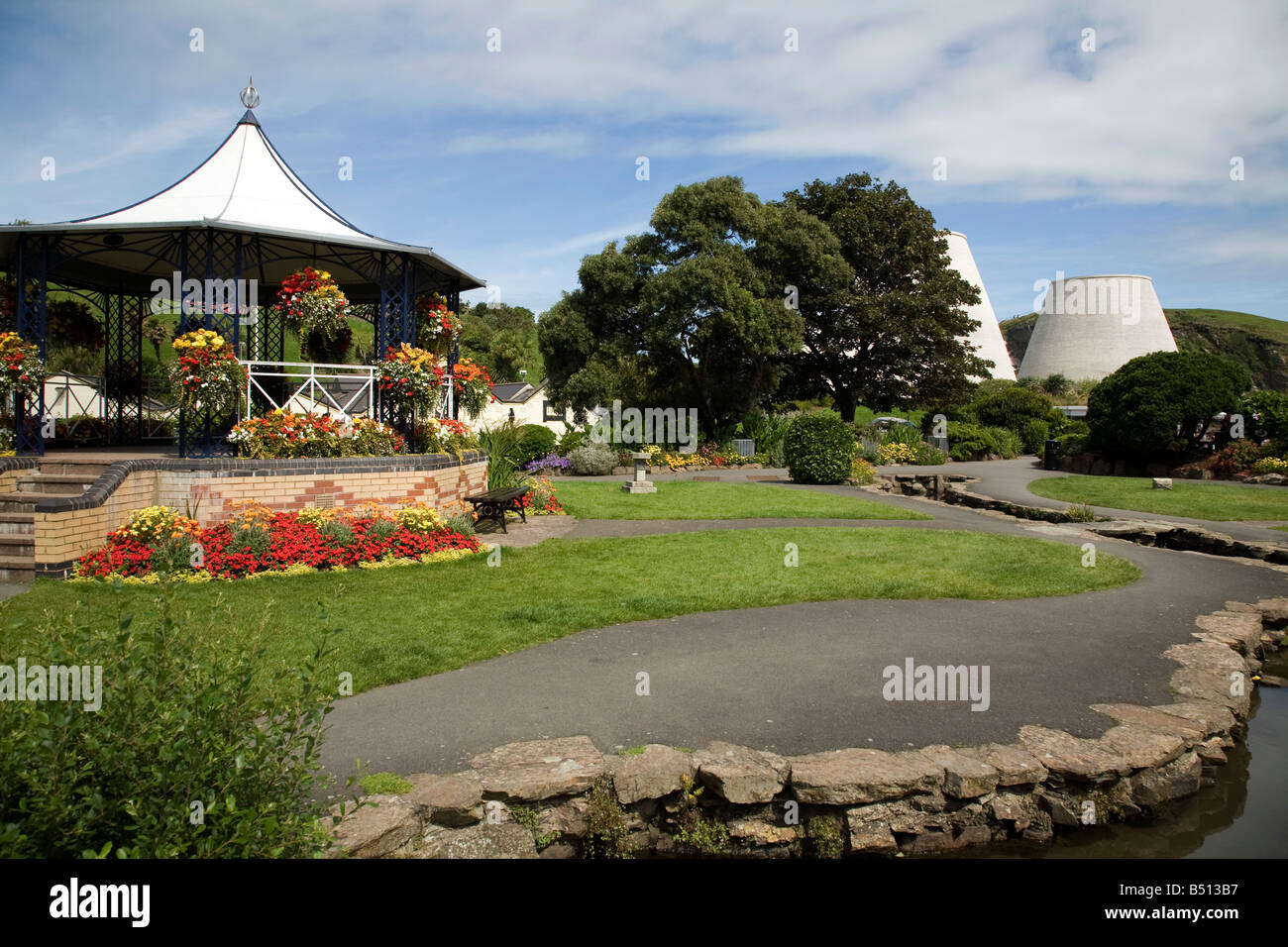 bandstand in the park ilfracombe devon - Stock Image