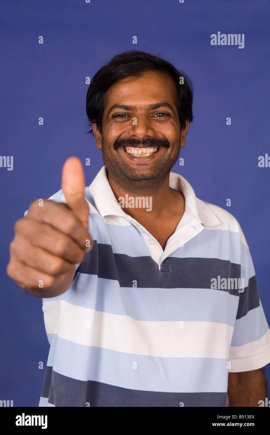 Man Thumbs Up Indian Stock Photos & Man Thumbs Up Indian ...