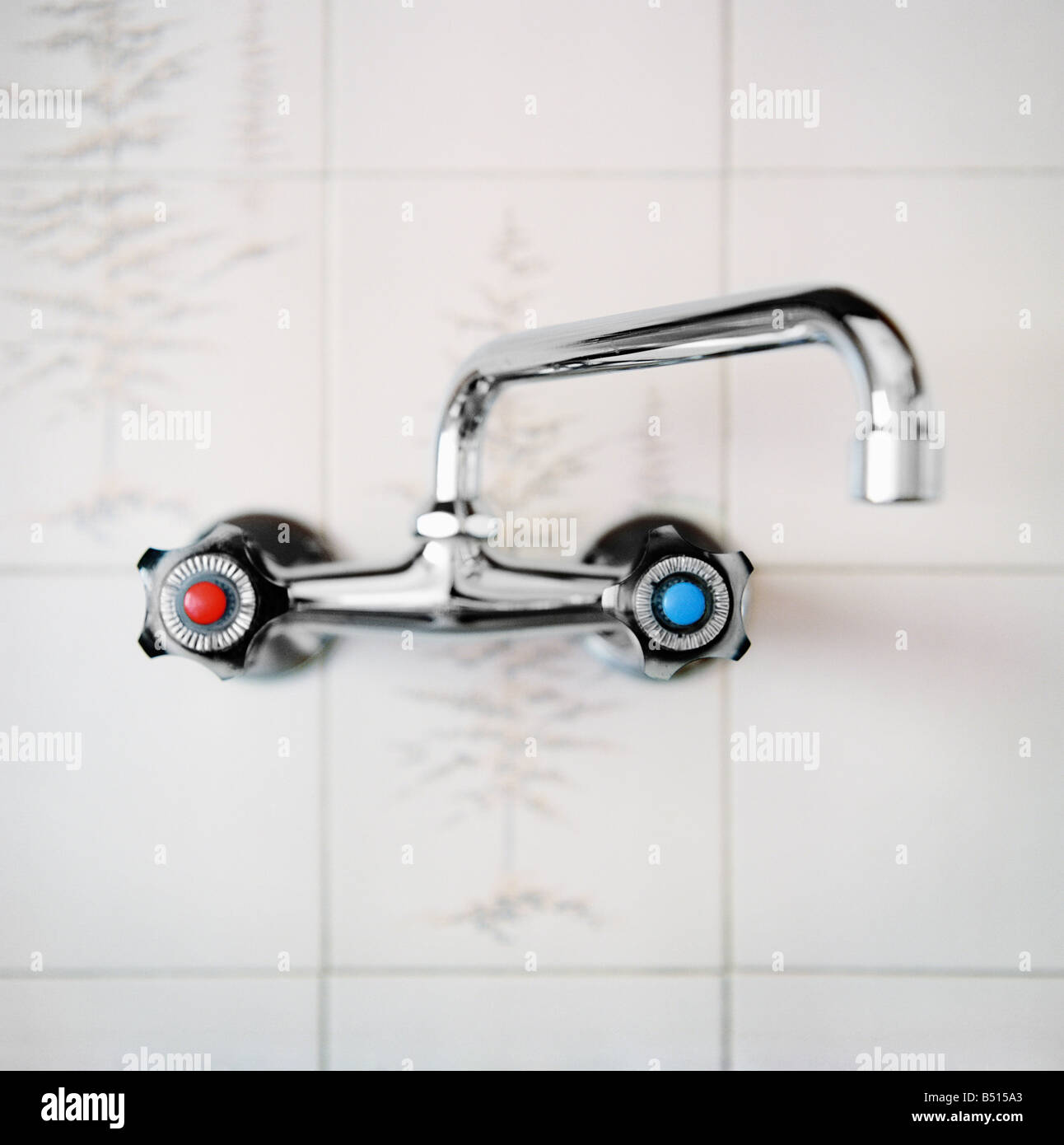 Faucet in the kitchen - Stock Image