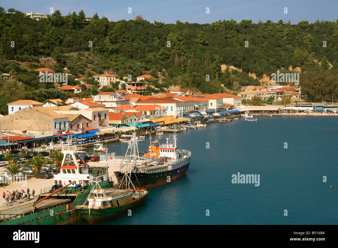 Greece Peloponnese Katakolon harbour - Stock Image