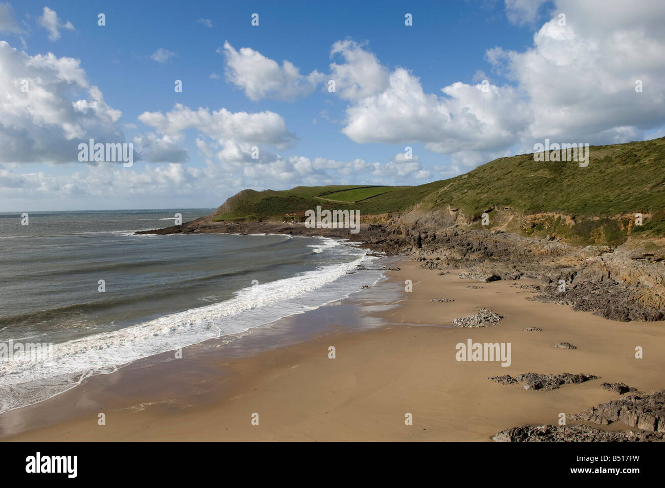 Mewslade Bay Gower West Glamorgan - Stock Image