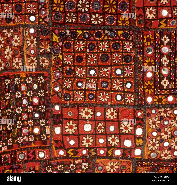 Indian Crafts Shisha Mirror Work Patchwork Fabric Stock