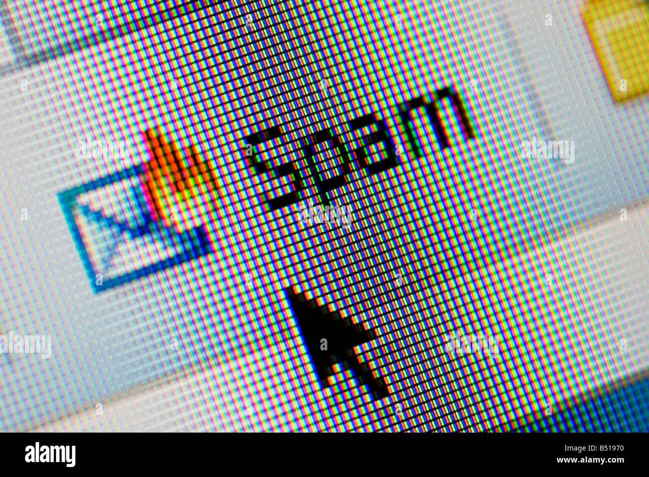 Spam filter on internet email webiste - Stock Image
