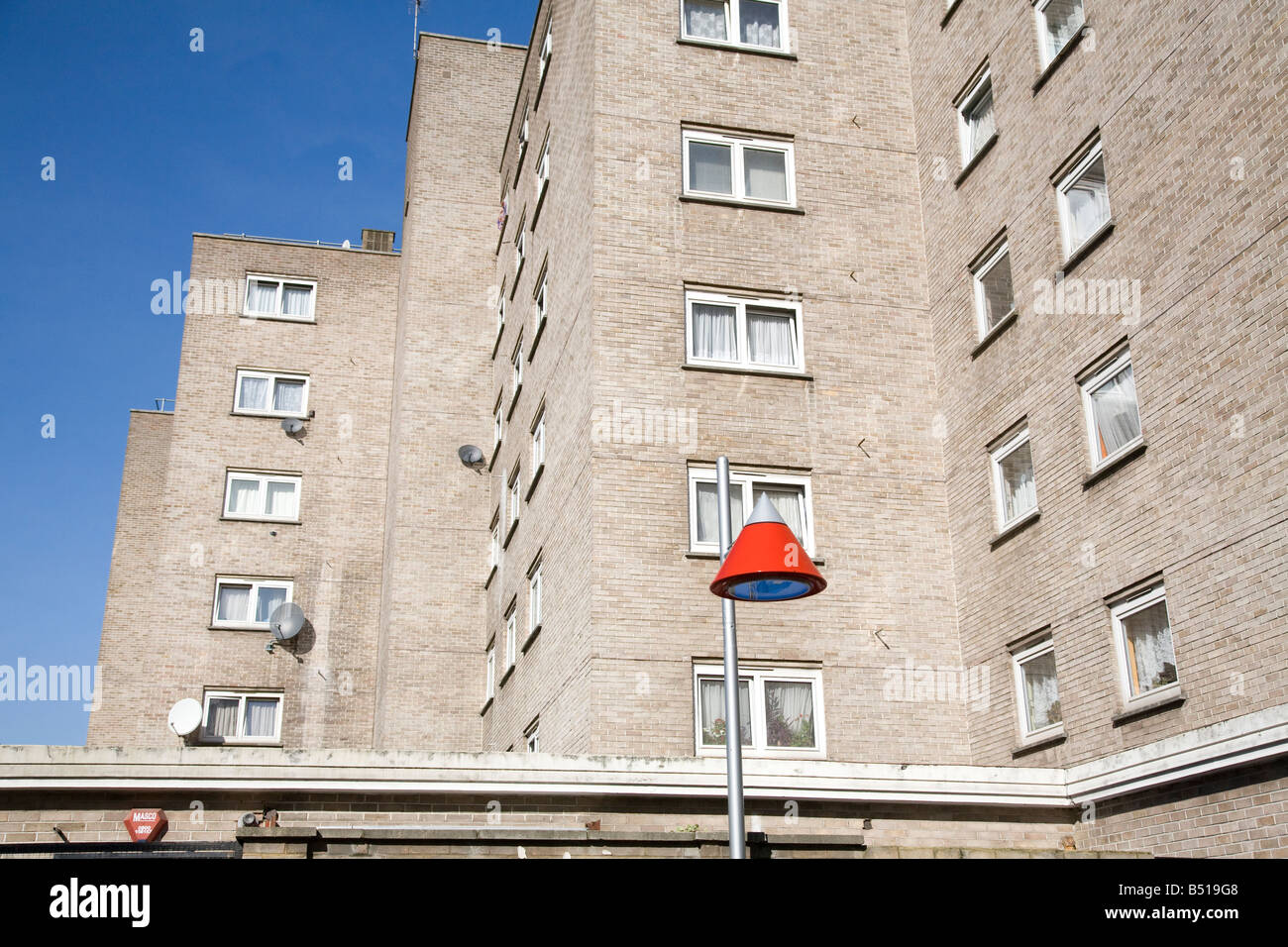 local authority high rise housing on the edge of Somers Town Camden Central London - Stock Image