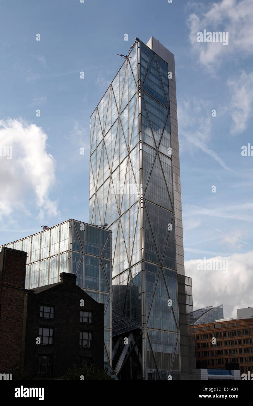 Broadgate Tower in Bishopsgate, East London - Stock Image