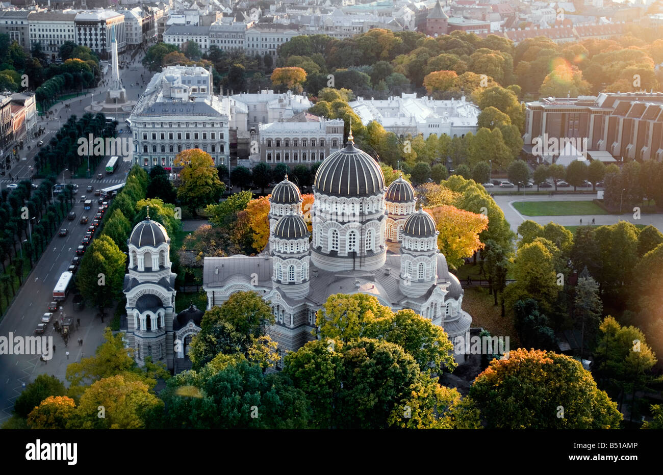 Russian Orthodox Church Riga Latvia - Stock Image
