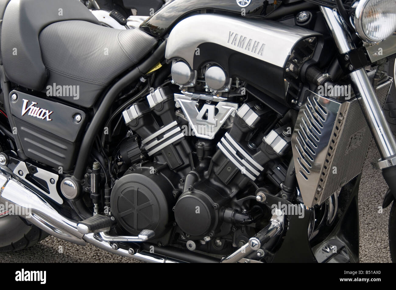 yamaha v max vmax motorcycle motorbike motor bike cycle engine high powered muscle bike - Stock Image