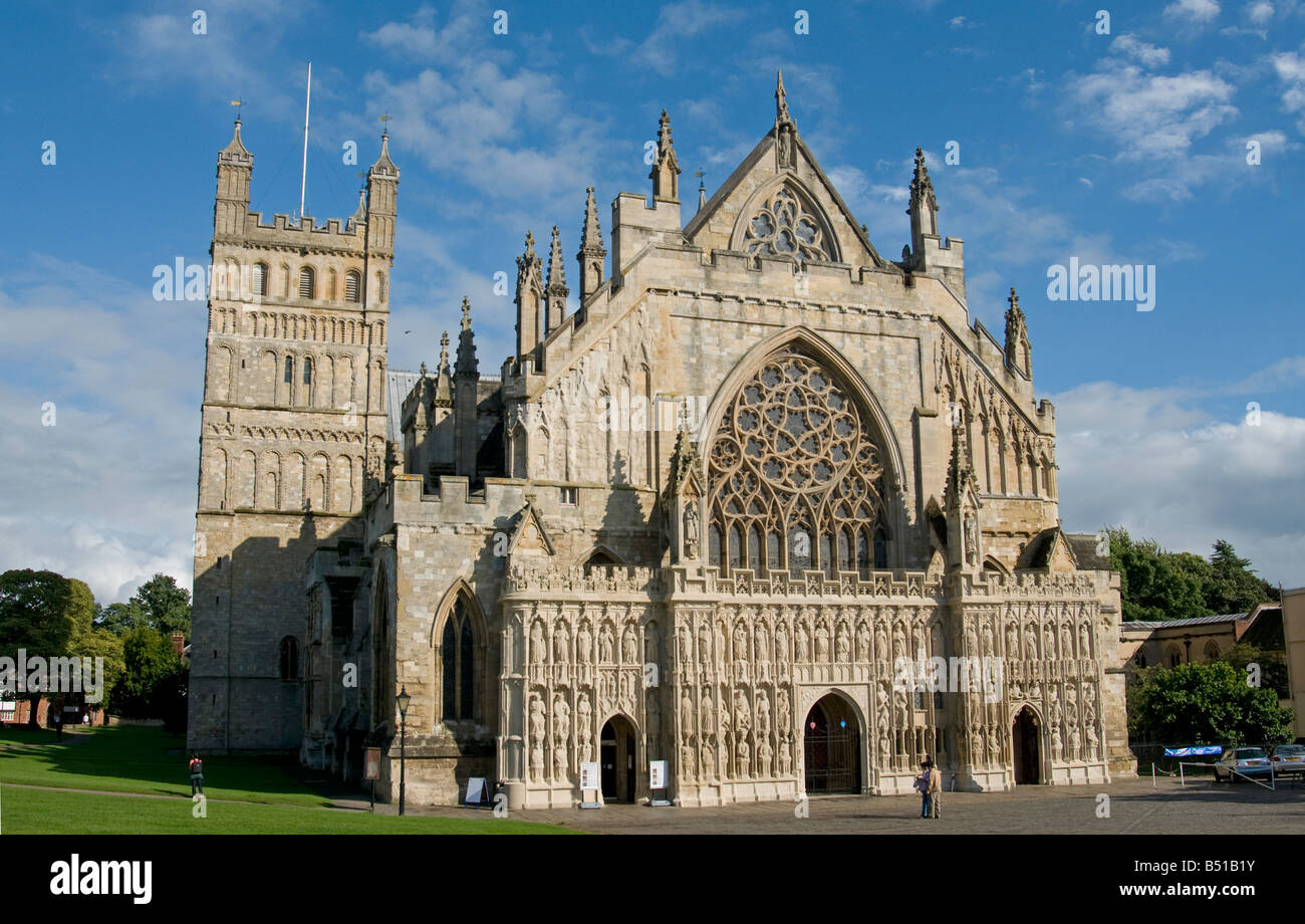 Cathedral Church of St Peter Exeter City westcountry Devon England UK - Stock Image