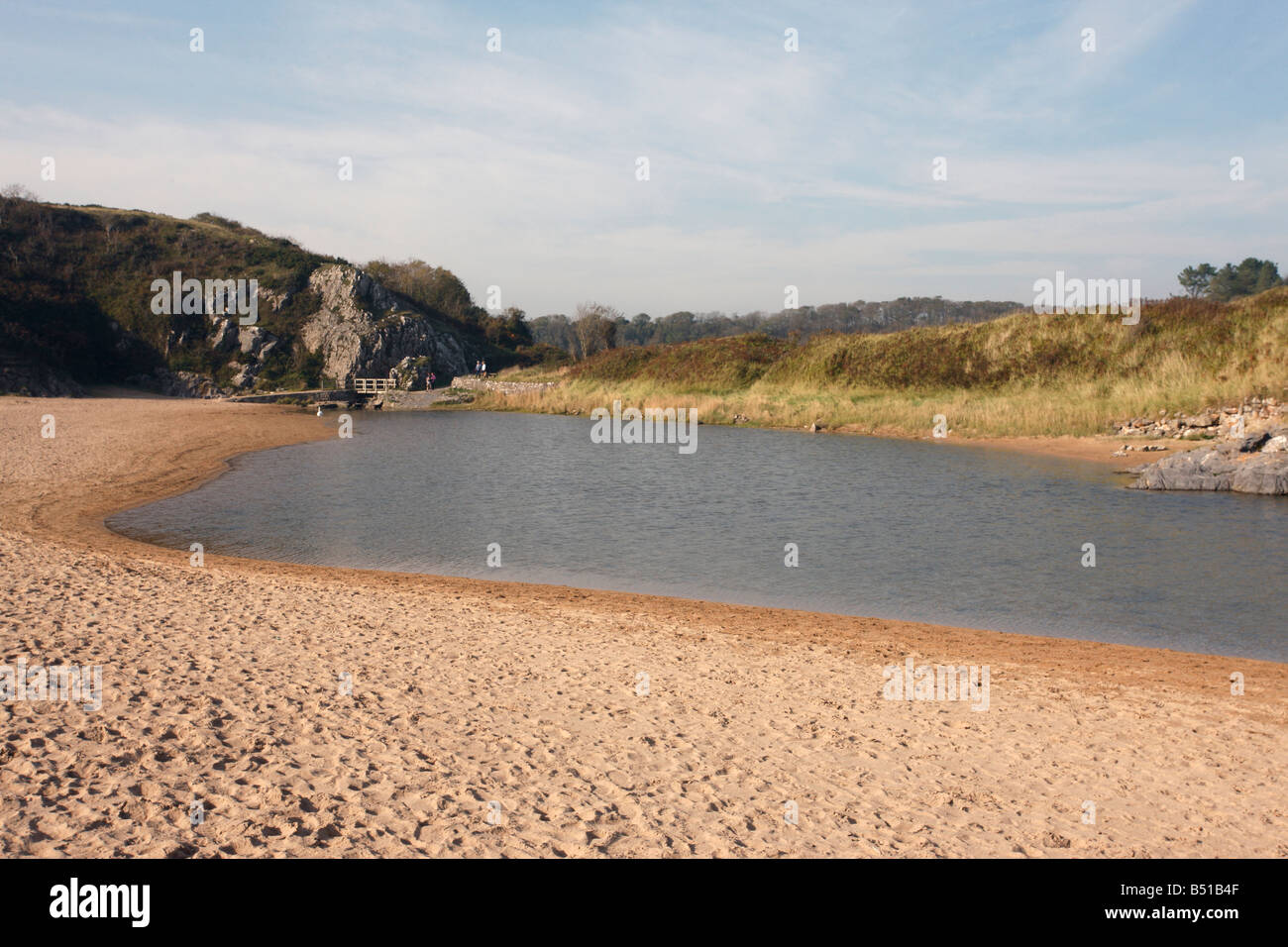 Broad Haven by St Govans Head Pembrokeshire Wales - Stock Image