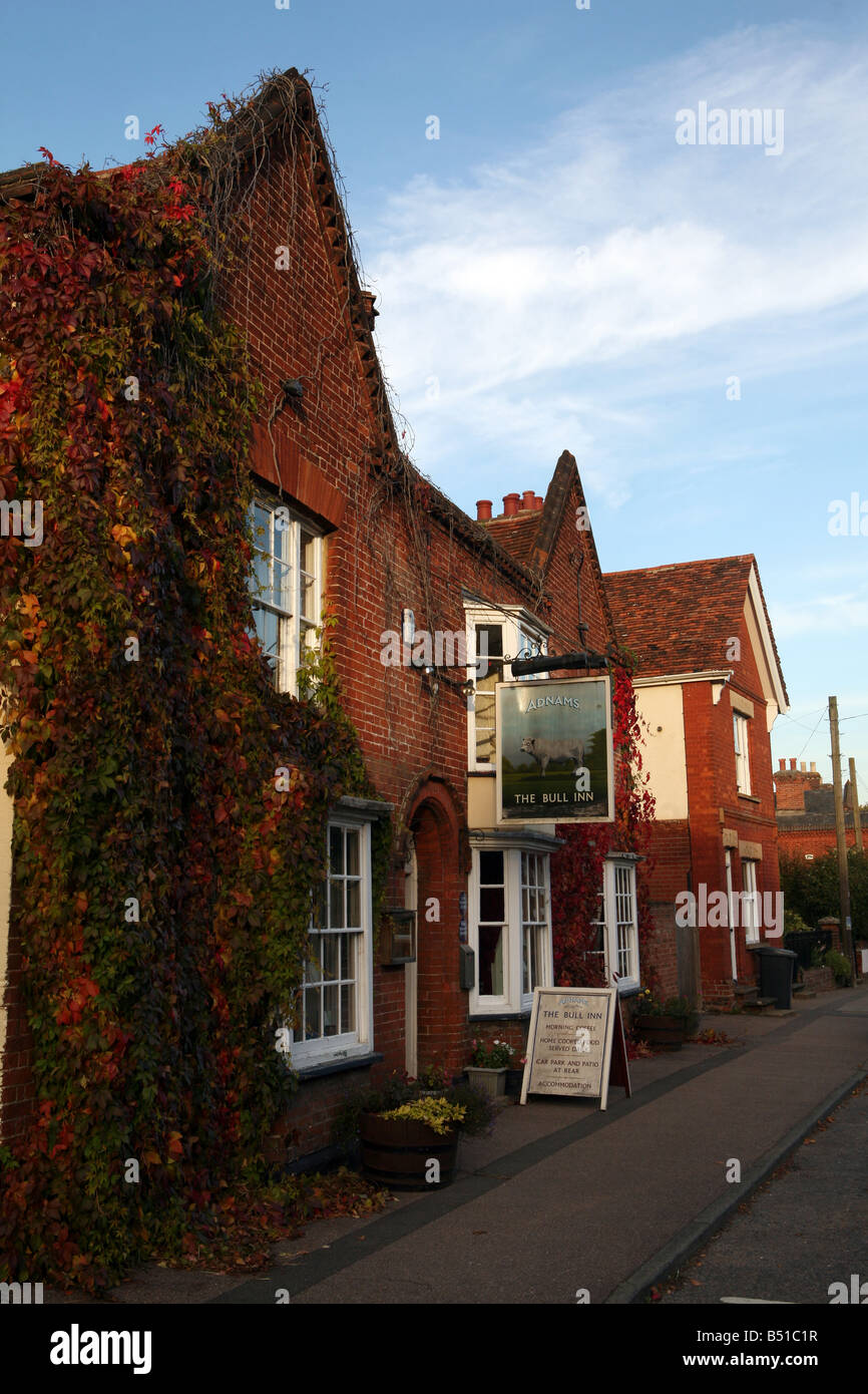 The Bull public house in the village of Cavendish in Suffolk UK - Stock Image
