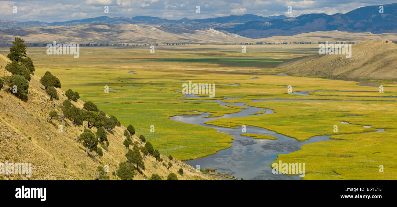 National Elk Refuge Scenery in Jackson Hole, Wyoming, USA - Stock Image