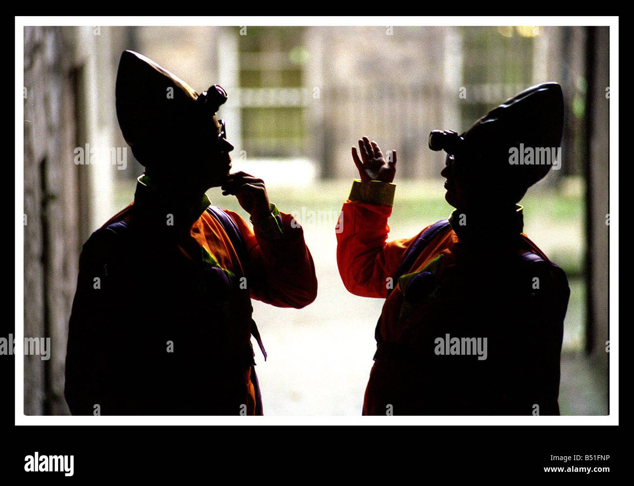 Science Festival Edinburgh December 1998 aliens Captain Zogon and Ensign Thuff - Stock Image