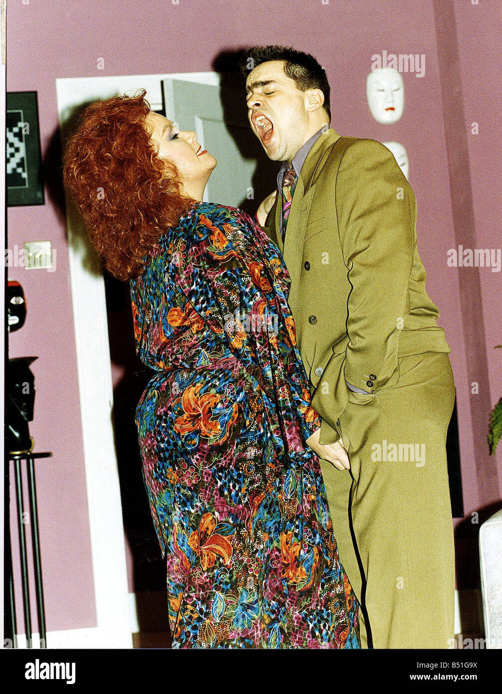 Dawn French with Kevin Allen in play by Ben Elton called Silly CowStock Photo