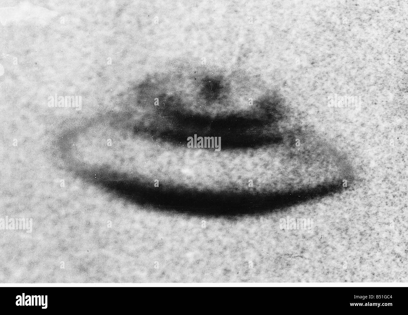 Air UFO s taken by Gordon Faulkner outside his home in Wiltshire - Stock Image