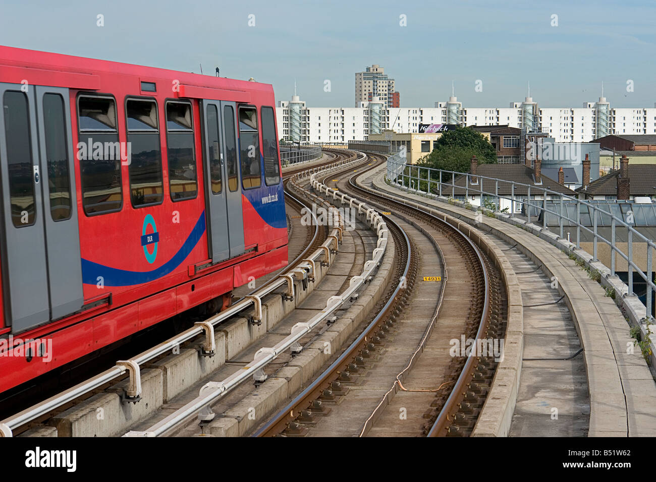 Canning Town east London on the DLR - Docklands Light Railway - Stock Image