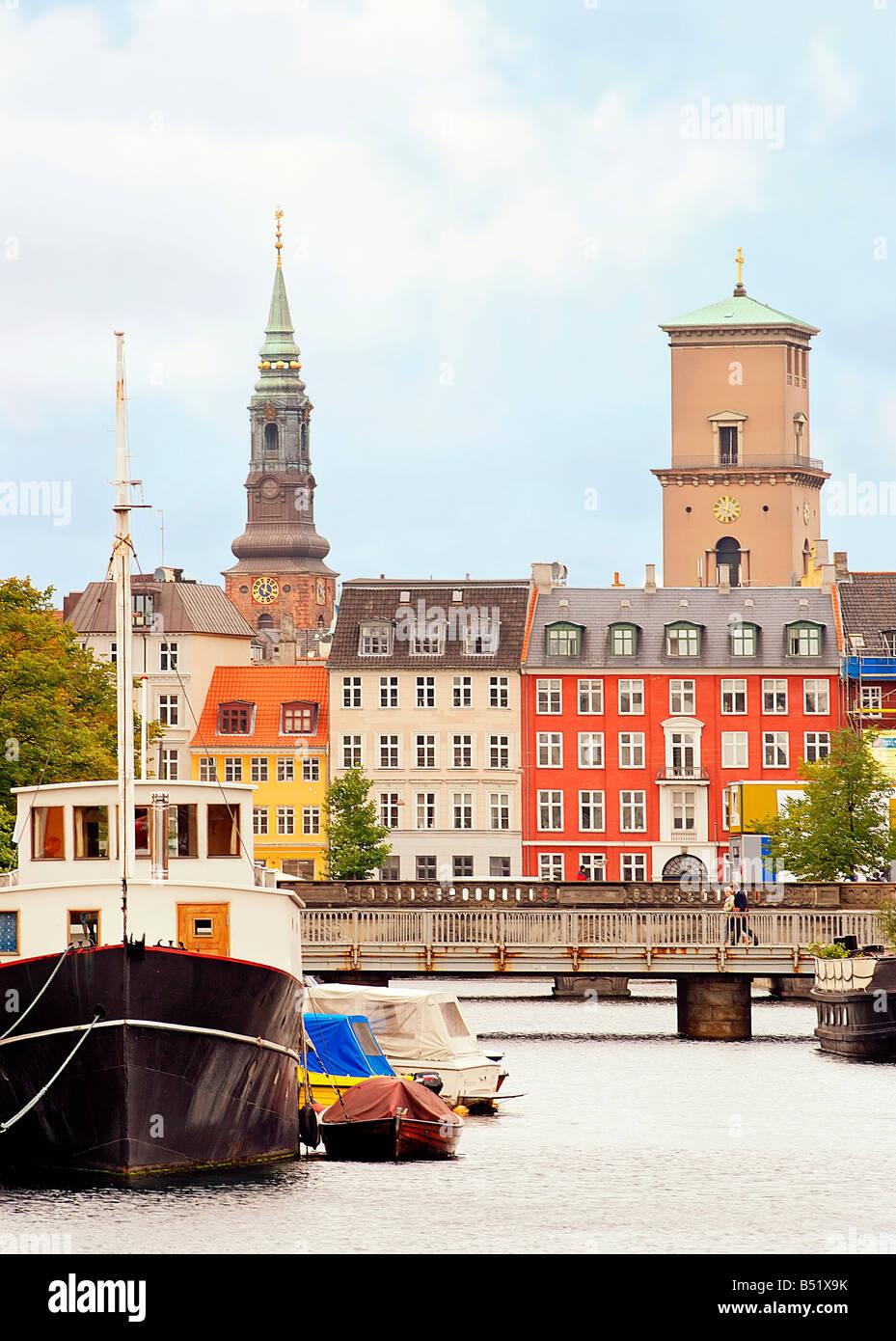 Frederiksholms Kanal in Kopenhagen - Stock Image